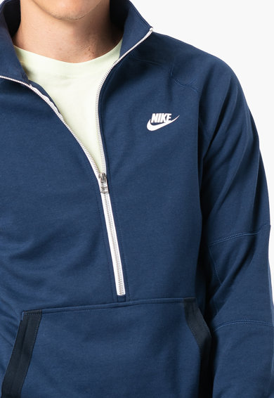 Nike Bluza sport din amestec de bumbac cu fenta cu fermoar Barbati