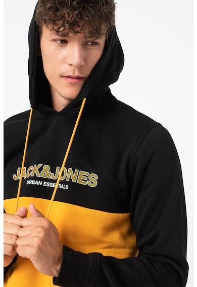 Jack&Jones Hanorac colorblock cu imprimeu logo Barbati