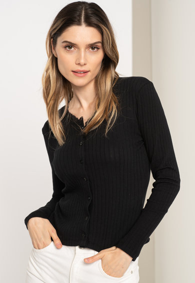 JdY Bluza striata cu garnituri din dantela Nynne Femei