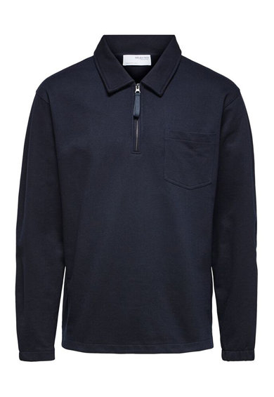 Selected Homme Bluza polo relaxed fit de bumbac organic Barbati