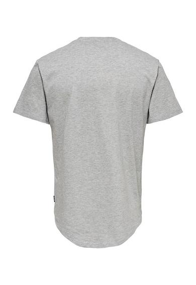 Only & Sons Set de tricouri de bumbac cu decolteu la baza gatului Matt - 7 piese Barbati