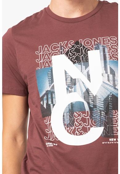 Jack&Jones Tricou cu imprimeu si decolteu la baza gatului York Barbati