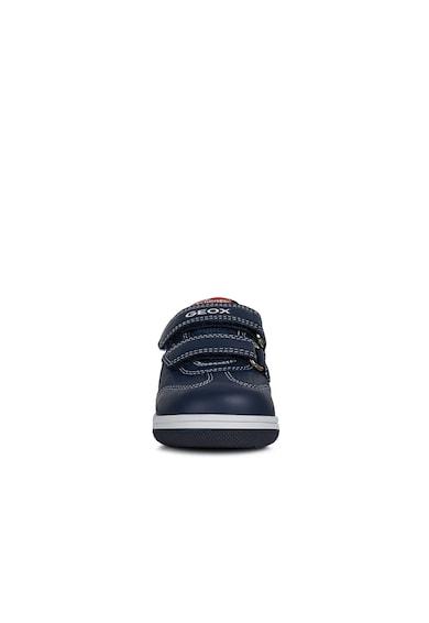 Geox New Flick bőrsneaker textilbetétekkel Fiú