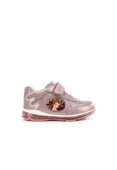 Geox Todo tépőzáras műbőr sneaker Szépség és a szörnyeteges foltrátéttel Lány