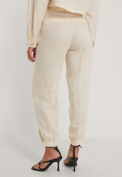 NA-KD Pantaloni jogger din in cu talie inalta Femei