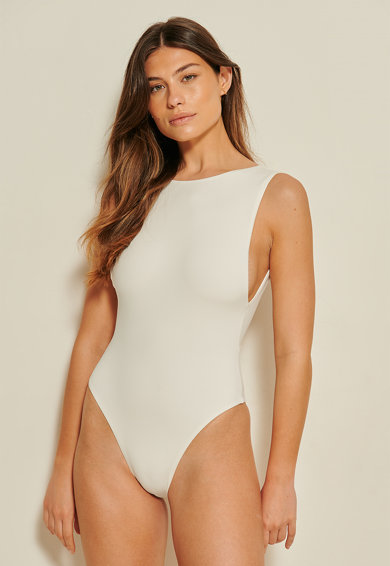 NA-KD Costum de baie intreg cu decupaj adanc pe partea din spate Femei