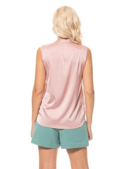 Minimalis Bluza fara maneci cu aspect satinat Femei