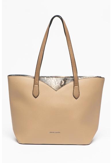 Pierre Cardin Geanta shopper de piele ecologica cu insertii cu model piele de sarpe Femei
