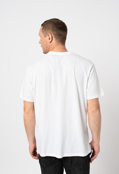 ALL SAINTS Tricou cu decolteu la baza gatului si logo Barbati