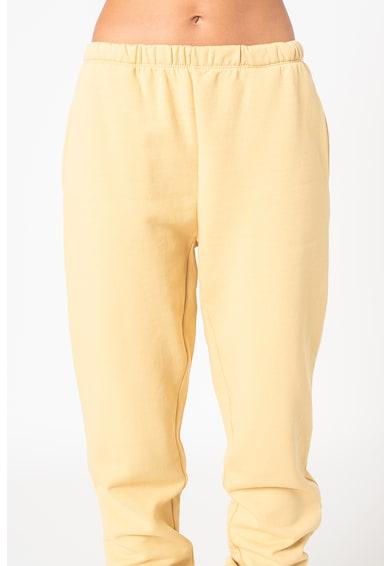 Only Pantaloni sport din amestec de bumbac organic cu buzunare laterale Feel Femei