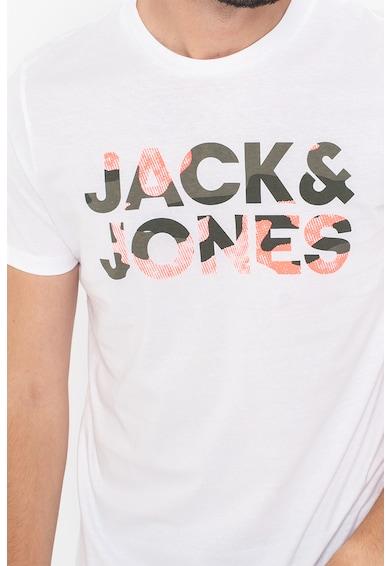 Jack&Jones Set de tricouri cu decolteu la baza gatului si logo supradimensionat Soldier - 2 piese Barbati