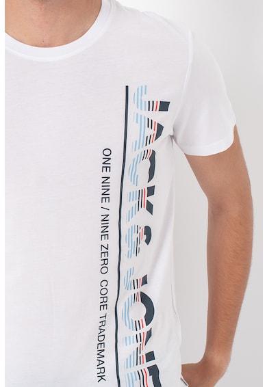 Jack&Jones Set de tricouri de bumbac cu logo supradimensionat Structure - 2 piese Barbati