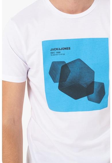 Jack&Jones Tricou cu decolteu la baza gatului cu logo si imprimeu grafic Navaro Barbati