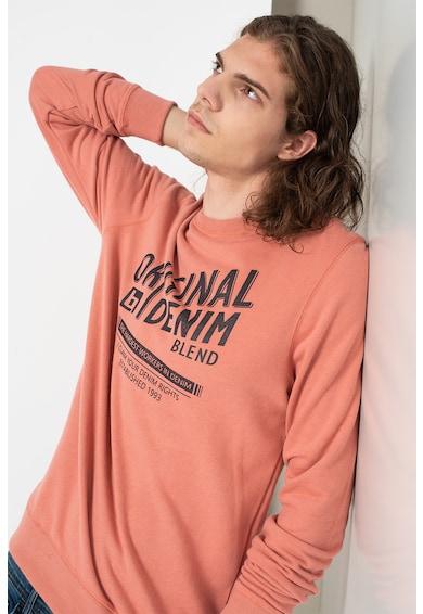 BLEND Bluza sport din bumbac cu imprimeu Barbati