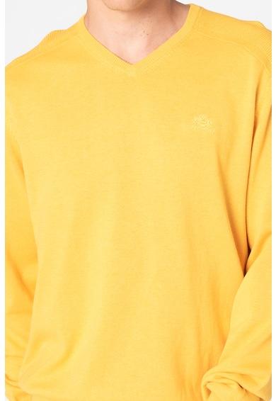 State of Art Pulover regular fit tricotat fin cu decolteu in V Barbati