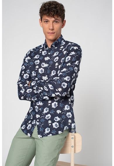 State of Art Camasa din in cu imprimeu floral si buzunar detasabil Barbati