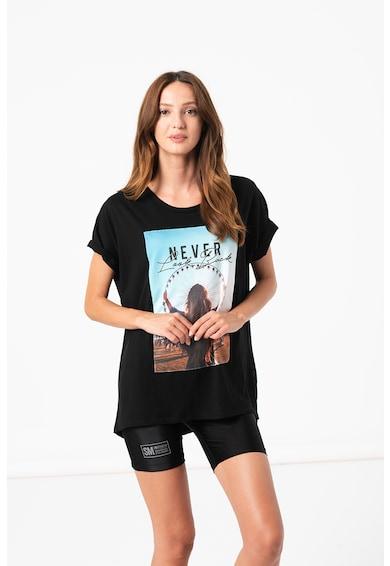 Haily's Tricou supradimensionat cu imprimeu foto Lia Femei