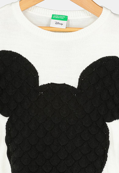 United Colors of Benetton Pulover tricotat fin cu model Mickey Mouse Fete