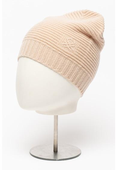 United Colors of Benetton Caciula din amestec de lana cu striatii si logo Femei