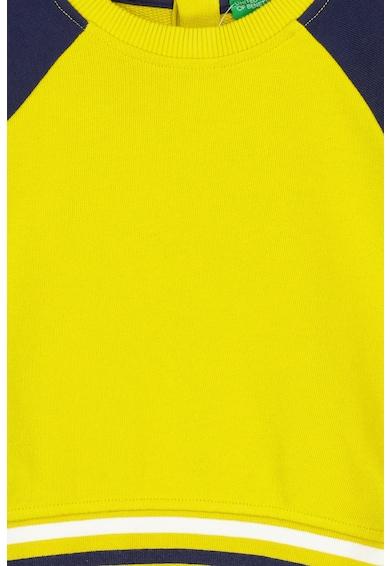 United Colors of Benetton Bluza sport colorblock cu maneci raglan Baieti