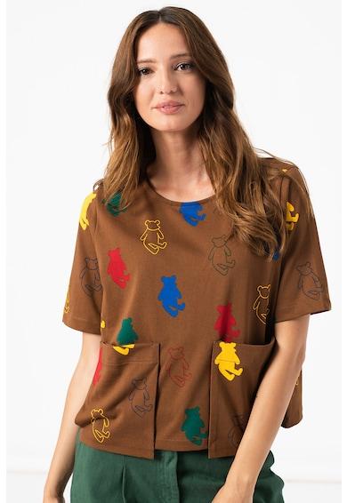 United Colors of Benetton Tricou cu imprimeu si buzunare aplicate Femei