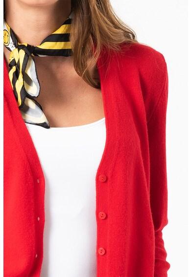 United Colors of Benetton Cardigan de lana virgina cu decolteu in V Femei