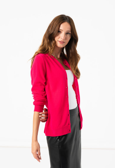 United Colors of Benetton Cardigan din lana virgina cu aspect de tricot fin Femei