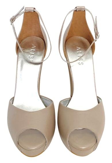 Aliss Shoes Sandale de piele cu platforma si bareta pe glezna Nadia Femei