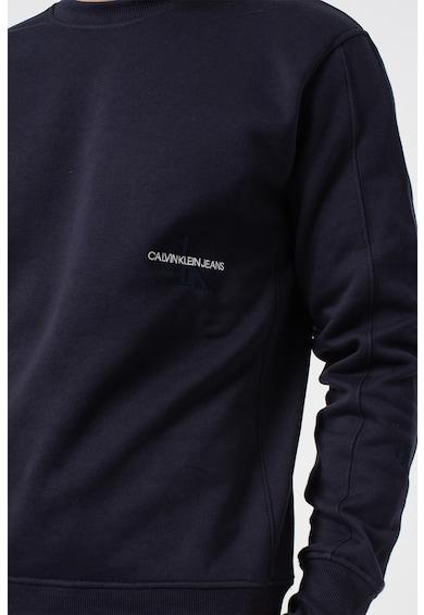CALVIN KLEIN JEANS Bluza sport din amestec de bumbac organic, cu logo brodat Barbati