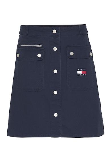 Tommy Jeans Fusta de bumbac organic cu croiala in A Femei