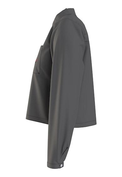 Tommy Jeans Camasa de bumbac organic cu buzunar pe piept Femei