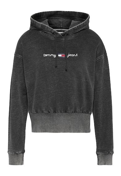 Tommy Jeans Hanorac crop de bumbac organic cu aspect decolorat Femei