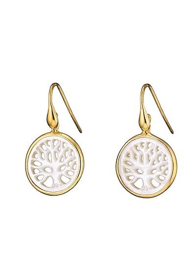 OXETTE Cercei din argint veritabil placati cu aur de 14K Femei