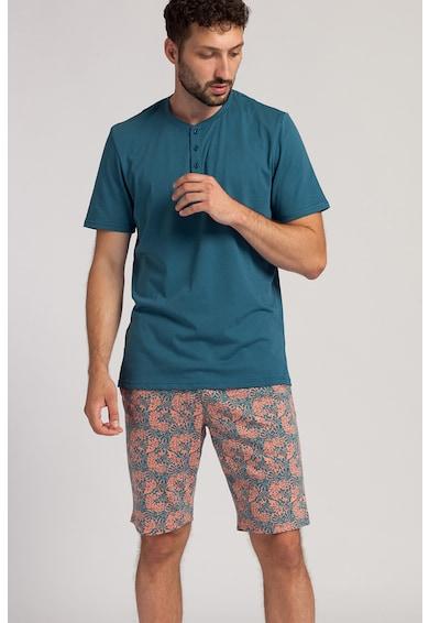 Sofiaman Pijama scurta cu imprimeu grafic George Barbati