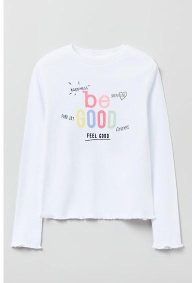 OVS Bluza cu imprimeu text contrastant Fete