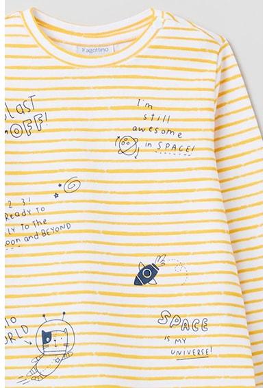 OVS Bluza cu decolteu la baza gatului de bumbac Fete