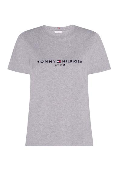 Tommy Hilfiger Tricou de bumbac organic cu logo brodat Heritage Femei