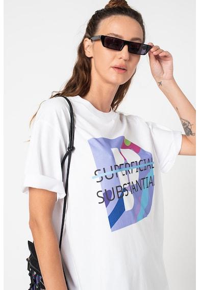 Fashion Days Tricou unisex de bumbac organic cu imprimeu grafic Femei