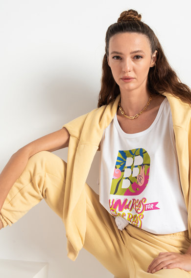 Fashion Days Top unisex de bumbac organic Femei