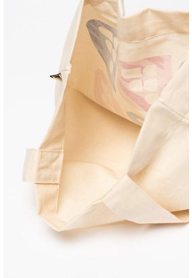 Fashion Days Tote fazonú logós organikuspamut táska női