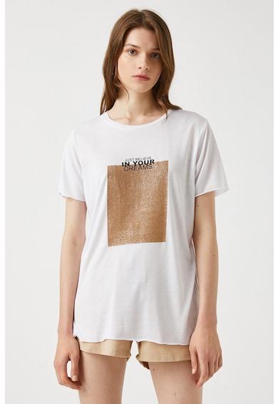 KOTON Tricou cu imprimeu stralucitor Femei