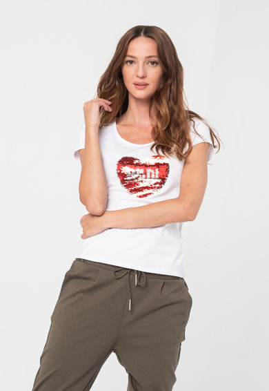 Haily's Tricou cu aplicatie cu paiete reversibile Femei