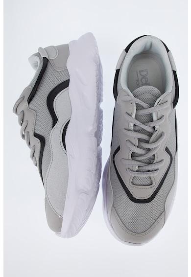 DeFacto Pantofi sport wedge cu insertii din material textil Barbati