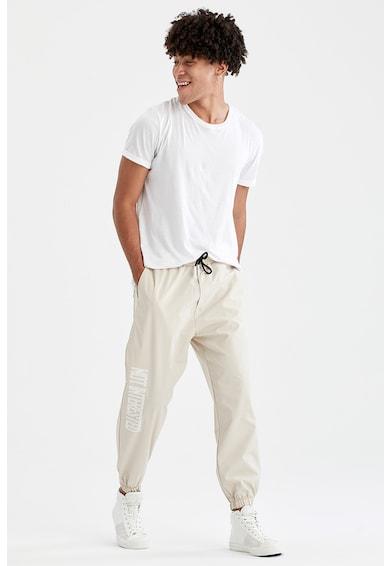DeFacto Pantaloni sport conici cu detalii text Barbati