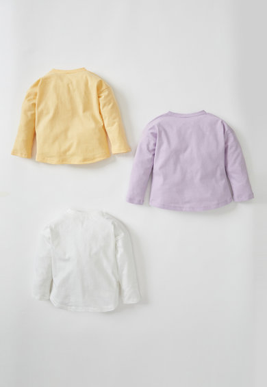 DeFacto Set de bluze cu decolteu la baza gatului -3 piese Fete