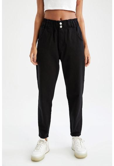 DeFacto Pantaloni mom fit cu talie elastica Femei