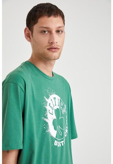 DeFacto Tricou supradimensionat cu imprimeu Barbati
