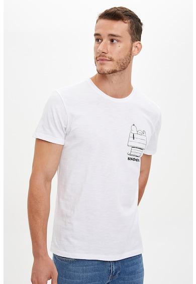 DeFacto Tricou de bumbac cu imprimeu grafic Barbati