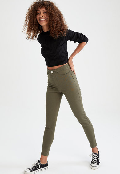 DeFacto Pantaloni crop super skinny Femei