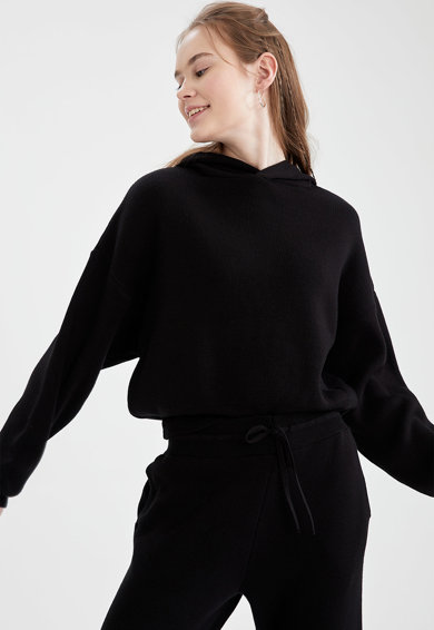 DeFacto Hanorac tricotat fin cu maneci cazute Femei